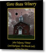 Terre Beau Winery 2017 Eclipse Poster Metal Print