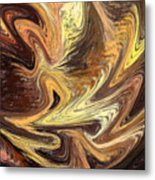 Terrestrial Fire Abstract Metal Print