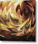 Terrestrial Flames Abstract  Metal Print