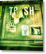 Terror At The Trash Can Metal Print