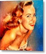 Terry Moore, Vintage Hollywood Actress Metal Print