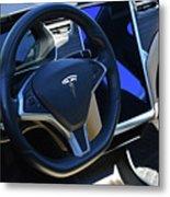 Tesla S85d Cockpit Metal Print