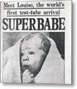 Test-tube Baby, 1978 Metal Print