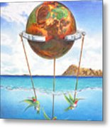 Tethered Sphere Metal Print