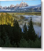 Teton Morning Snake River Overlook Metal Print