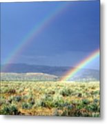 Teton Rainbow Metal Print