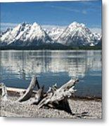 Teton Range Reflections Metal Print