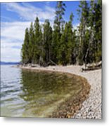 Teton Shore Metal Print