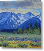 Teton Summer Metal Print