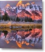 Teton Sunrise Spectacular Metal Print