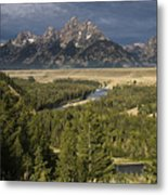 Teton Valley Snake River Metal Print