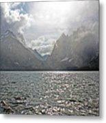 Tetons At Jenny Lake Metal Print