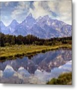 Tetons At The Landing 1 Metal Print