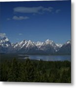 Tetons In Blue Metal Print