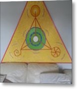 Tetrahedron From Wheat-shire Metal Print