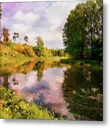 Teviot River Near Kelso. Metal Print