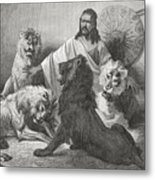 Tewodros Holding Audience, Surrounded Metal Print