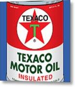 Texaco Can Metal Print