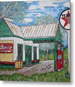 Texaco Gas Station Metal Print