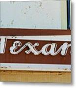 Texan Movie Theater Sign Metal Print