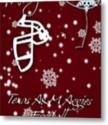Texas Am Aggies Christmas Card Metal Print