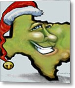 Texas Christmas Greetings Metal Print