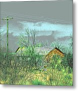 Texas Farm House - Digital Painting Metal Print by Merton Allen