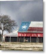 Texas Flag Barn #4 Metal Print