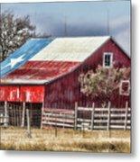 Texas Flag Barn #6 Metal Print