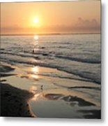 Texas Gulf Coast At Sunrise Metal Print
