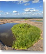 Texas Hill Country Enchanted Rock Zen Pools 2 Metal Print