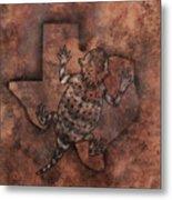 Texas Horned Toad Metal Print