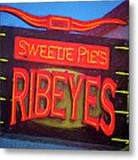 Texas Impressions Sweetie Pie's Ribeyes Metal Print