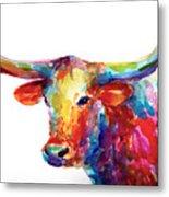 Texas Longhorn Art Metal Print