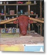 Texas Monster Longhorn Metal Print