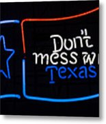 Texas Neon Sign Metal Print