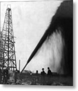 Texas: Oil Derrick, C1901 Metal Print by Granger