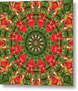 Texas Paintbrush Kaleidoscope Metal Print