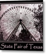 Texas Star Copper Poster Metal Print