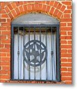 Texas Star Window Metal Print