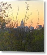 Texas State Capital From Far East Austin Metal Print