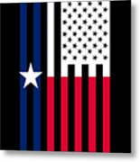Texas State Flag Graphic Usa Styling Metal Print