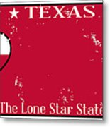Texas State License Plate With Damage Metal Print