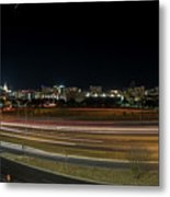 Texas University Tower And Downtown Austin Skyline From Ih35 Metal Print