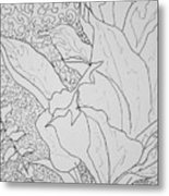 Texture And Foliage Metal Print