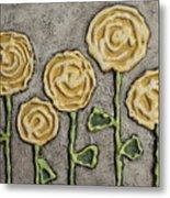 Texture Blooms In Sunshine Metal Print