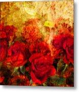 Texture Roses Metal Print