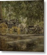 Textured Carriages Metal Print