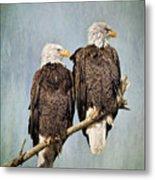 Textured Eagles Metal Print