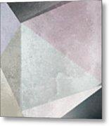 Textured Geometric Triangles Metal Print